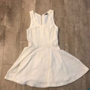White lacy A-line dress